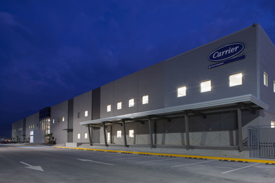 Carrier's newest manufacturing facility earns LEED Gold certification from the U.S. Green Building Council, making the factory its sixth LEED-certified building and the 17th for United Technologies.  (PRNewsFoto/Carrier)