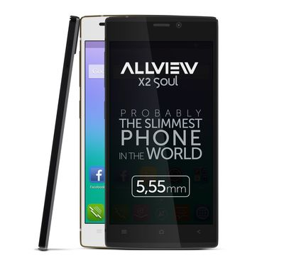 Allview is launching X2 Soul, the thinnest smartphone, on the European market. (PRNewsFoto/Allview)