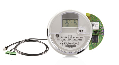 The Solar-Log 370 is an advanced residential solar PV monitoring device with grid feed-in control. This residential revenue grade meter combines the market leading Solar-Log(R) monitoring technology into GE's popular 1-210+ meter. Optional features include automatic incentive reporting, self-consumption metering, inverter direct monitoring for near real-time visualization of plant data, connection to weather sensors, remote disconnect and power management.