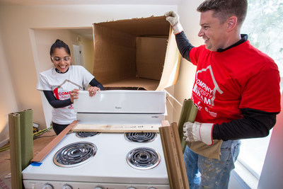 Whirlpool renews partnership with Habitat for Humanity in 2016 and will continue to provide a new range and refrigerator for every new Habitat home.