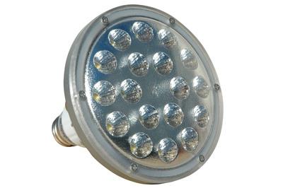 LED light bulb - PAR 38 LED replacement for standard light bulb for E26 socket.  20 Watts.  (PRNewsFoto/Larson Electronics)