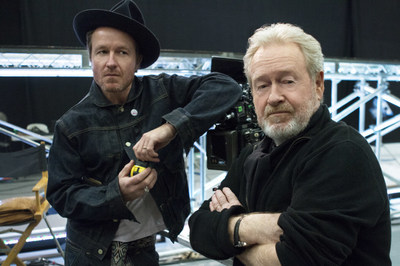 From left, Jake and Ridley Scott to direct and produce first ever LG Super Bowl commercial.