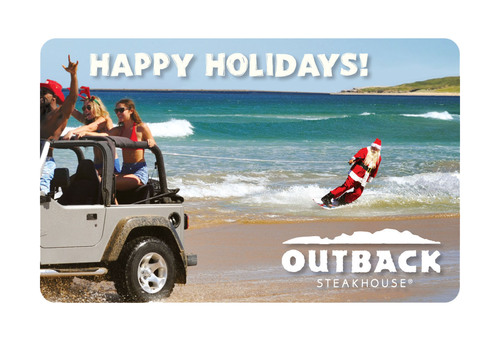 Outback Steakhouse helps stretch holiday budgets with free $20 bonus cards. Get FREE $20 Bonus Cards for every $100 in gift cards purchased online or in restaurants.  (PRNewsFoto/Outback Steakhouse)