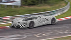 Spied on the track, the SRT Tomahawk Vision Gran Turismo, a single-seat hybrid powertrain concept vehicle, gets ready for its debut in Gran Turismo(R)6.