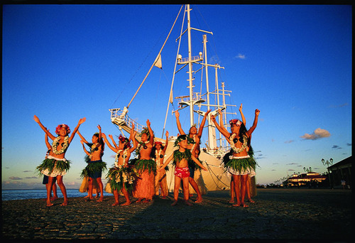 Discover Polynesian history through ancient marae sites, dance, and tikis.  (PRNewsFoto/Windstar Cruises)