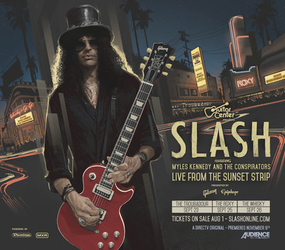 Guitar Center And DIRECTV Announce Slash Featuring Myles Kennedy And The Conspirators Live From The Sunset Strip (PRNewsFoto/Guitar Center)