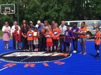 Nancy Lieberman Charities and WorldVentures dedicate DreamCourt to NBA Coach Del Harris, for Wayne County Indiana Boys & Girls Club.
