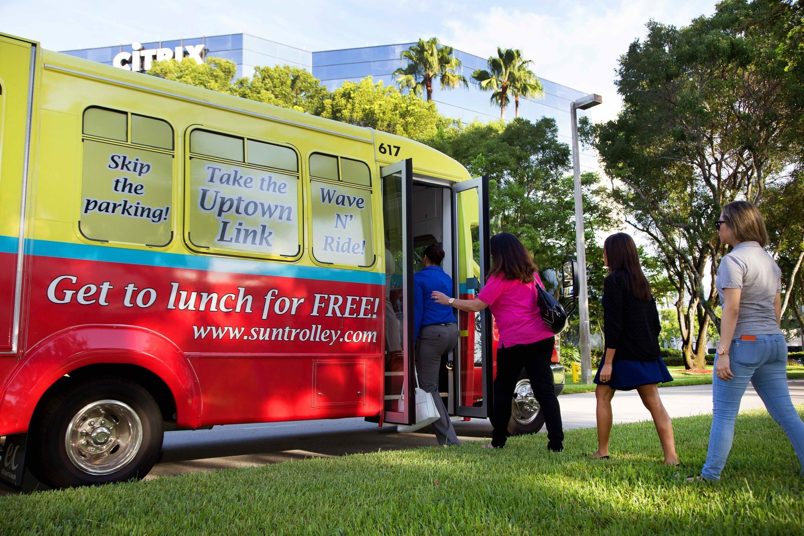 Sun Trolley Streamlines Uptown 'Lunch' Link Route to Better Serve Working Professionals in the