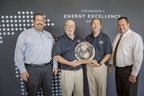 2016 Governor's Energy Excellence Award Winner - Odawa Casino Resort for Best Project in the Commercial/Private sector. Left to right: Joe McHugh (Great Lakes Energy), Dave Heinz (Odawa Casino Resort), Ron Gatlin (Odawa Casino Resort), and Thomas Mann (Great Lakes Energy).