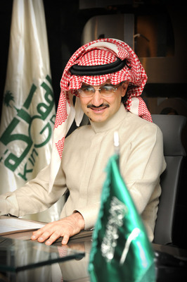 HRH Prince Alwaleed Bin Talal, Chairman Kingdom Holding Company, Announces $300 Million Investment in Twitter.  (PRNewsFoto/Kingdom Holding Company)
