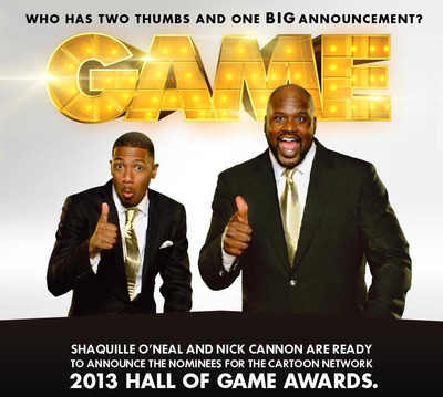 Shaquille O'Neal and Nick Cannon announce the Hall of Game Nominees.  (PRNewsFoto/Cartoon Network)