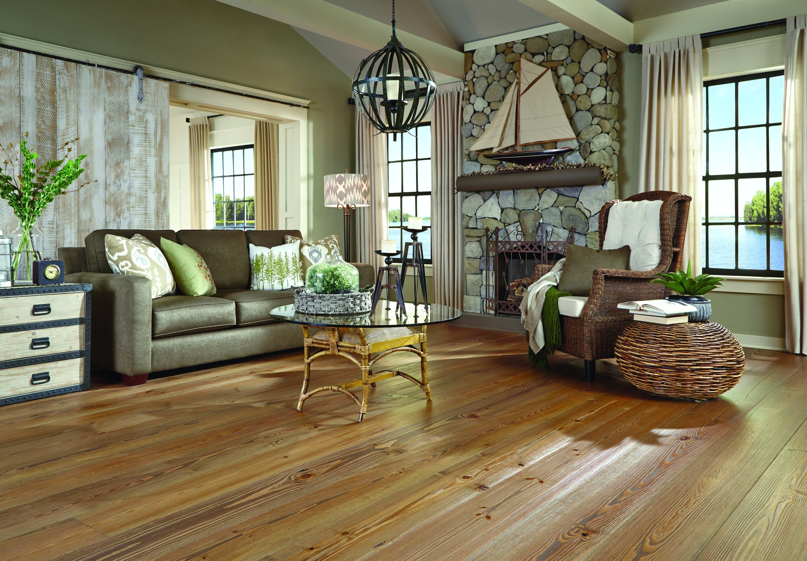 """""""Boathouse"""" From Carlisle Wide Plank Floors' New Lakehouse Collection"""