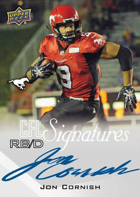 Jon Cornish 2014 Upper Deck CFL Card (PRNewsFoto/Upper Deck)