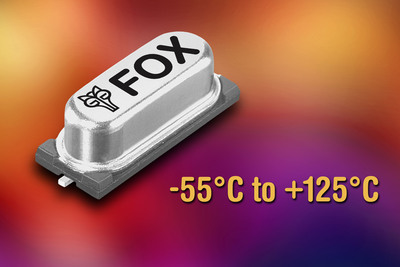 New Crystals Operating over Extended -55 degrees C to +125 degrees C Temperature Range Available from Fox Electronics
