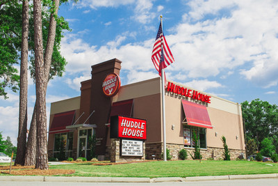 Photo of a Huddle House restaurant location. Huddle House has partnered with customer analytics firm Buxton to support franchise growth and site selection initiatives.