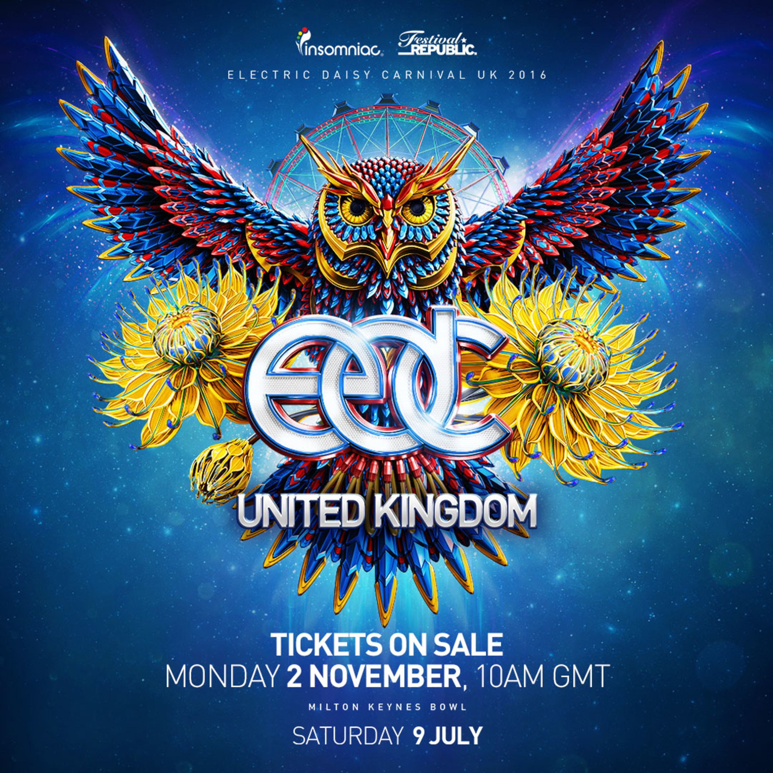 Insomniac Announces On Sale Date For 4th Annual Electric Daisy Carnival, UK