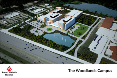 Preliminary rendering of design concept for Texas Children's Hospital - The Woodlands. (PRNewsFoto/Texas Children's Hospital) (PRNewsFoto/TEXAS CHILDREN'S HOSPITAL)
