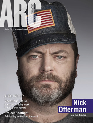 The spring issue of ARC Magazine(R), a quarterly publication by Lincoln Electric, will feature a cover story and interview with actor Nick Offerman from the TV series Parks and Recreation.