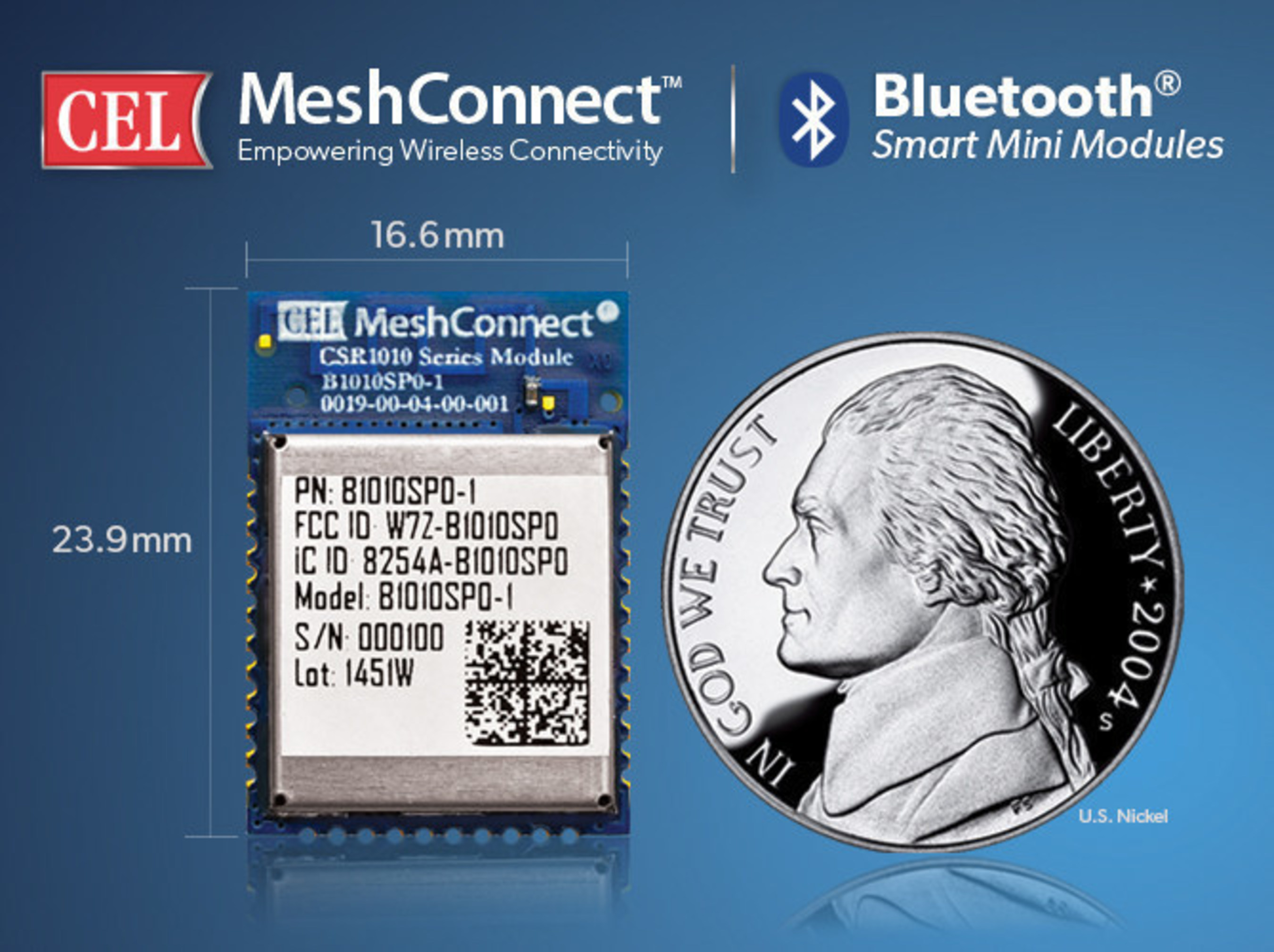 CEL's MeshConnect B1010 series of Bluetooth Smart Mini Modules