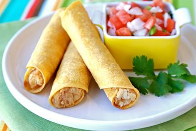 Hungry Girl's Tater Taquitos. (PRNewsFoto/United States Potato Board) (PRNewsFoto/UNITED STATES POTATO BOARD)