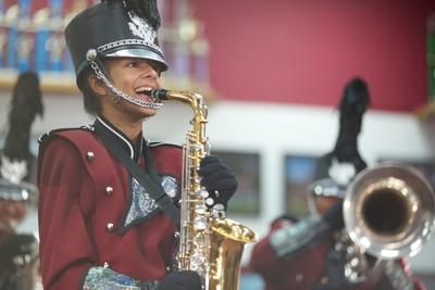 Saxophone player. (PRNewsFoto/NAMM)