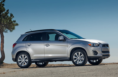 2013 Mitsubishi Outlander Sport Now Made in America-Mitsubishi's compact crossover, the Outlander Sport, has begun US production at the state-of-the art vehicle manufacturing plant in Normal, Illinois.  (PRNewsFoto/Mitsubishi Motors North America, Inc.)