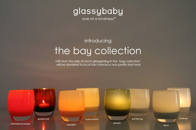The bay collection is available exclusively at the glassybaby store in San Francisco, 3665 Sacramento Street. grateful red and dawn votives also available at glassybaby.com