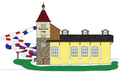 Rendering of the expansion at the Frankenmuth Bavarian Inn Lodge, America's largest Bavarian-themed resort. The exciting multi-million dollar expansion of its Family Fun Center is expected to open in November 2012.  (PRNewsFoto/Bavarian Inn Lodge)