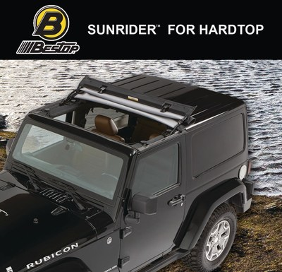 Bestop, the nation's leading manufacturer of Jeep soft tops and accessories, today announced the launch of the SUNRIDER(TM) FOR HARDTOP. The SUNRIDER(TM) FOR HARDTOP replaces the Freedom Panels on Jeep Wrangler factory hardtops with an all-purpose, all-weather, year-round soft top that flips back easily for an open-air experience.