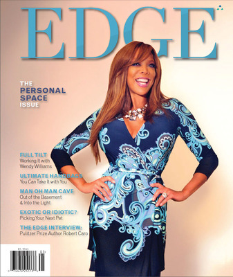 "The Wendy Williams Q&A is part of EDGEs April/May Personal Space"" issue, EDGE Magazine is published by Trinitas Regional Medical Center. More than 75,000 copies are sold and mailed, regularly reaching over 300,000 readers in central New Jersey. The magazine has an additional 150,000 online readers, who spend an average of 30-plus minutes on EdgeMagOnline.comas well as thousands more following EDGE through Twitter @EDGEMagNJ and Facebook  EDGE Magazine (NJ)."