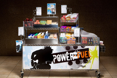 Aramark's Breakfast Carts serve hungry students on the move.  (PRNewsFoto/Aramark)