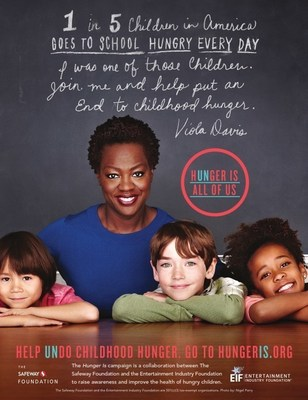 Award-winning actress and Hunger Is Ambassador Viola Davis supporting the fight to eradicate childhood hunger in the United States.
