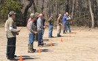Wounded veterans learn the basics of fly fishing.
