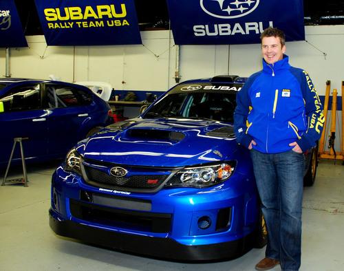 David Higgins at Vermont SportsCar for testing.  (PRNewsFoto/Subaru of America, Inc., Chris Yandell)