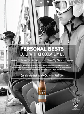 USA Medal Favorites Show How Success is Built with Chocolate Milk.  (PRNewsFoto/MilkPEP)