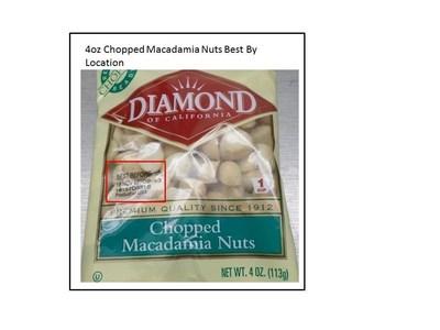 4oz Chopped Macadamia Nuts Best By Location