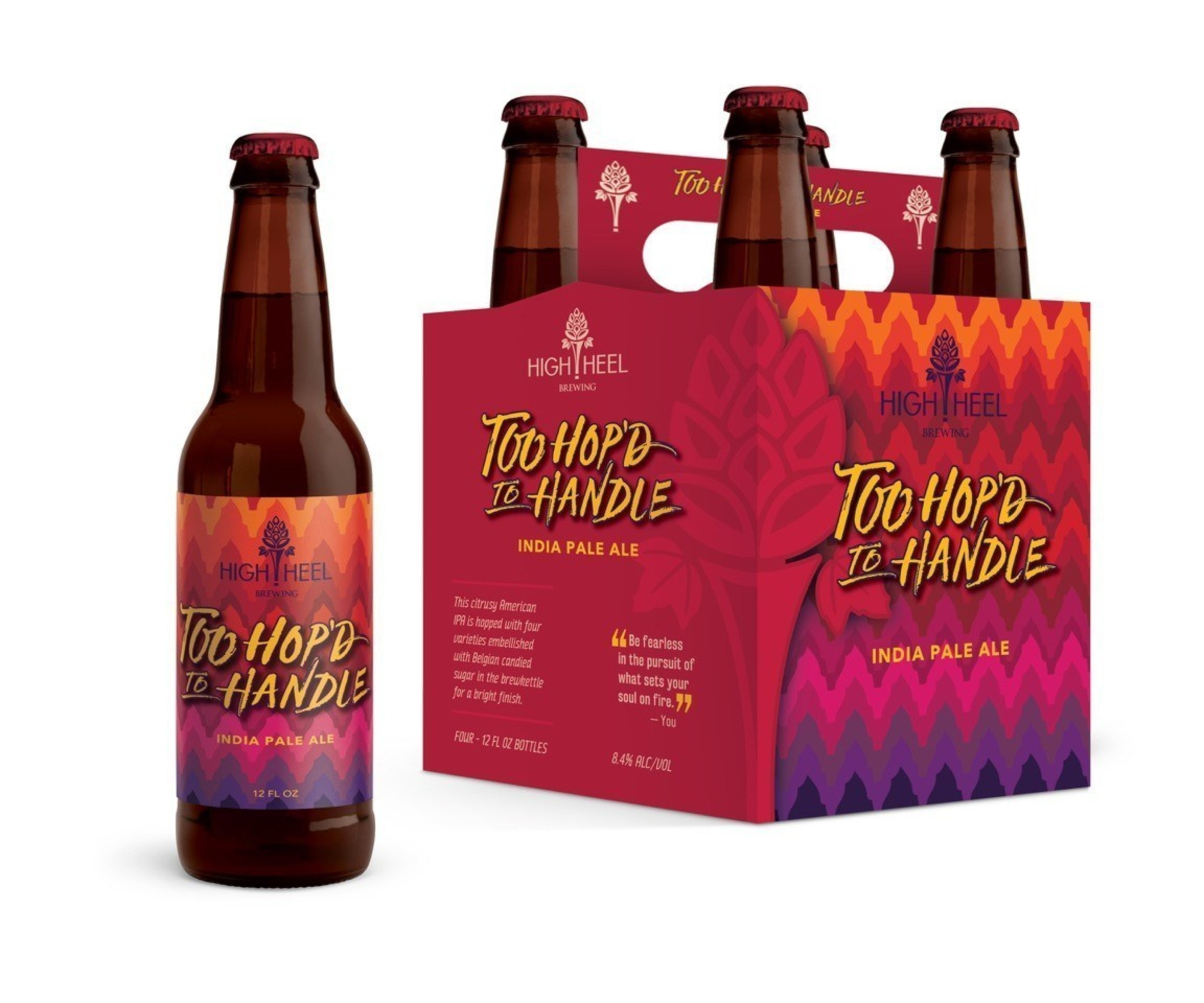 Too Hop'd To Handle India Pale Ale by High Heel Brewing. Photo Credit: High Heel Brewing.
