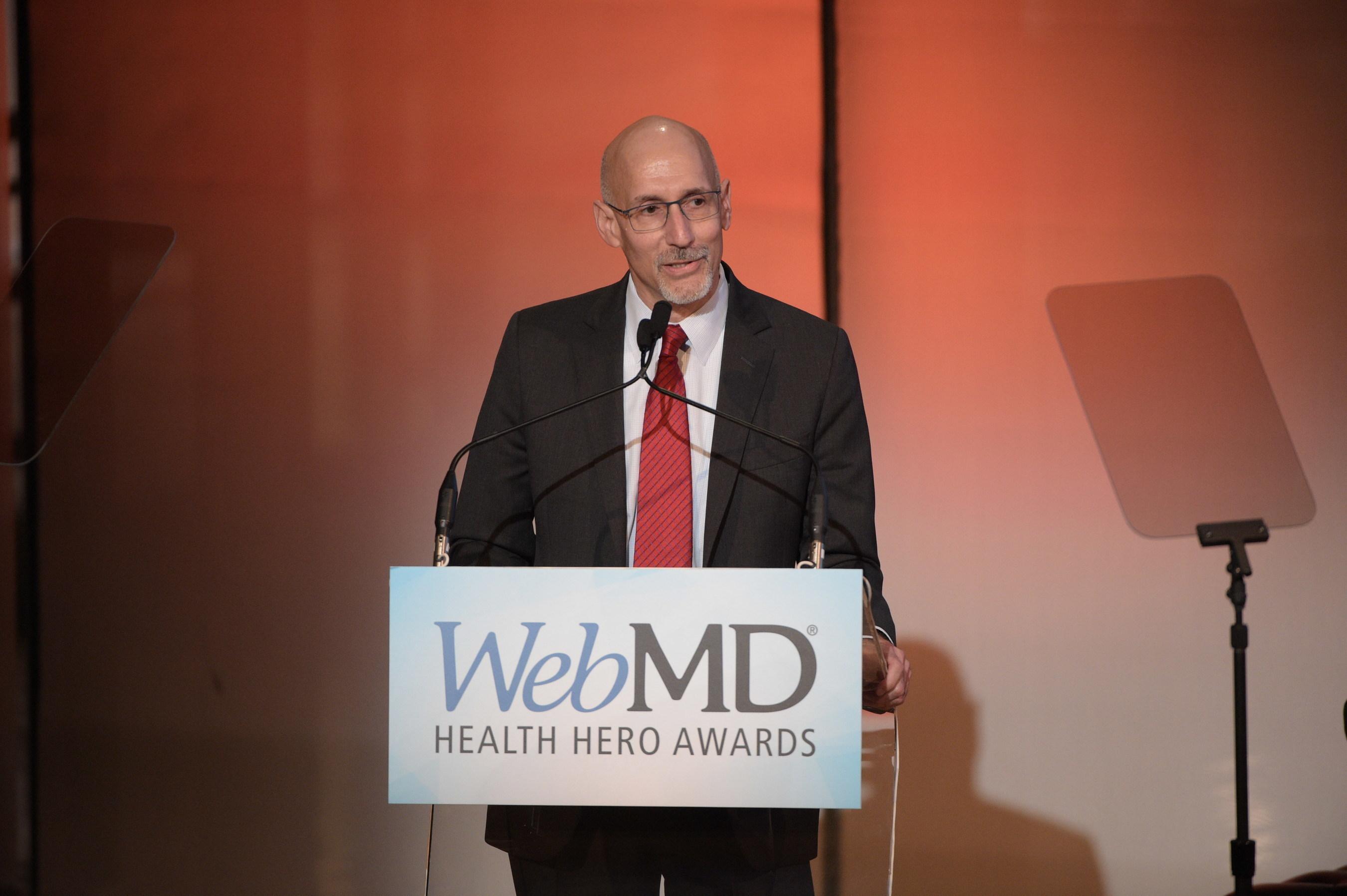 Steve Zatz, MD, WebMD CEO kicks-off the 2016 WebMD Health Hero Awards Ceremony on November 3, 2016 in New York City.