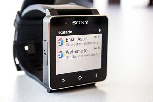 reqallable is available as a free beta for the Sony SmartWatch. reqallable supports the Smart Connect extension for SmartWatch. (PRNewsFoto/reQall) (PRNewsFoto/REQALL)