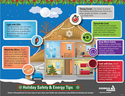 Light up the holidays safely and efficiently with tips from Georgia Power.