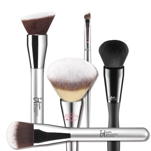 Known for problem solving, skin-loving prestige cosmetics and unparalleled luxurious quality makeup brushes, IT Cosmetics partnered with the nation's largest beauty retailer, ULTA to craft an exclusive offering of three unique and distinct makeup brush collections, featuring a total of 56 custom-cut brushes plus nine brush sets. (PRNewsFoto/IT Cosmetics)