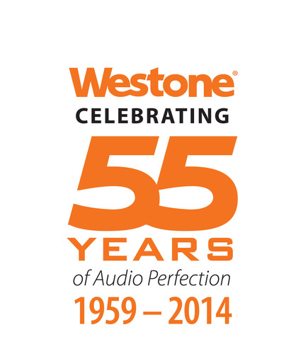 Westone, the leader in high performance audio and in-ear monitoring technology, announces their 55 year anniversary that will be celebrated throughout 2014. The Colorado Springs-based company is recognized around the world for its hearing healthcare product, in-ear monitors worn by musicians, performers, broadcasters and sound technicians, professional-grade hearing protection for military, sports enthusiasts and law enforcement and concert-goers, and in-ear headphones for audiophiles and music lovers. (PRNewsFoto/Westone) (PRNewsFoto/WESTONE)