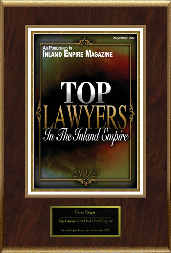 """Barry Regar Attorney At Law Selected For """"Top Lawyers In The Inland Empire"""".  (PRNewsFoto/American ..."""