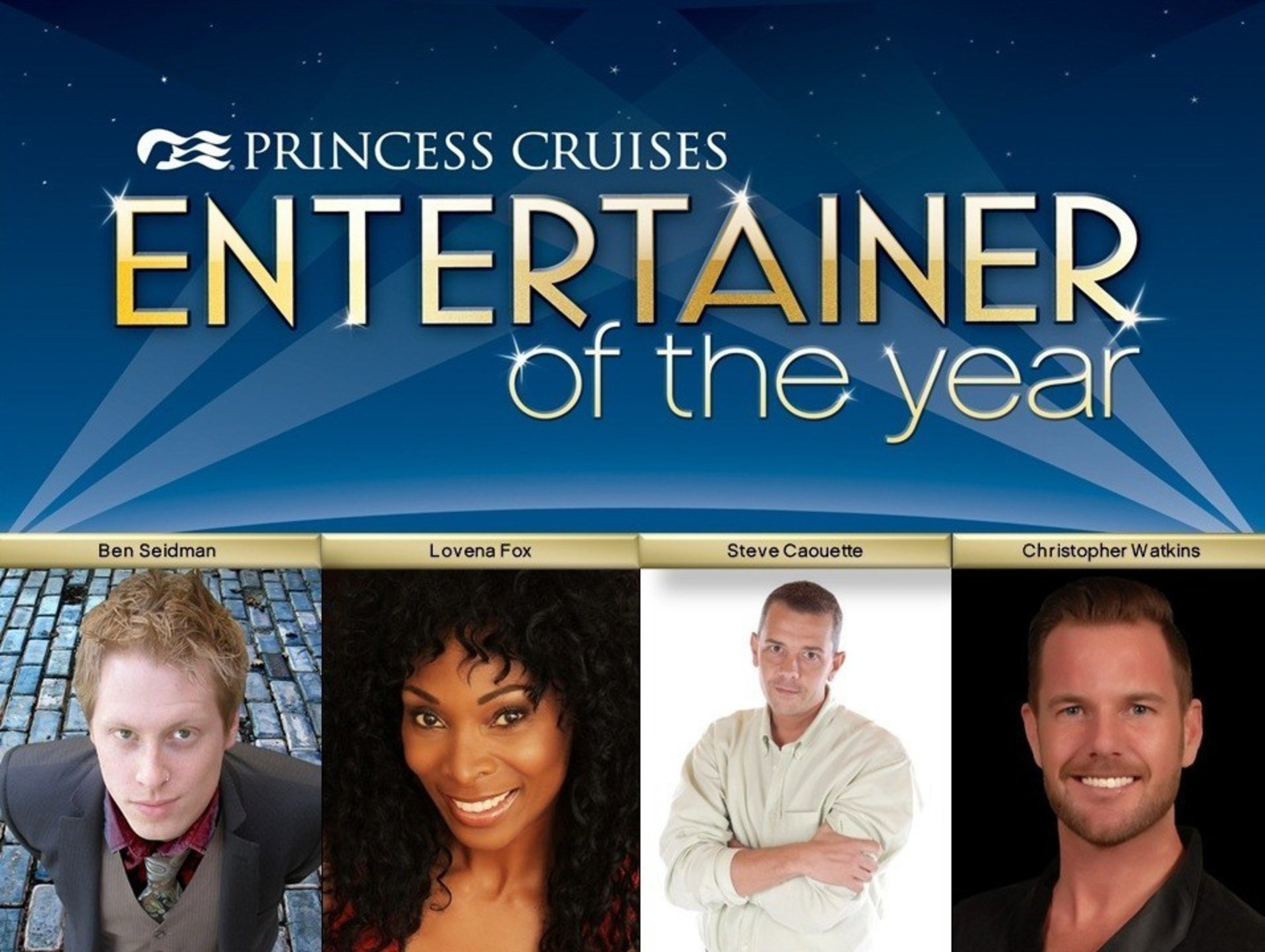 Princess Cruises Announces Finalists for Fourth Annual Entertainer of the Year Competition