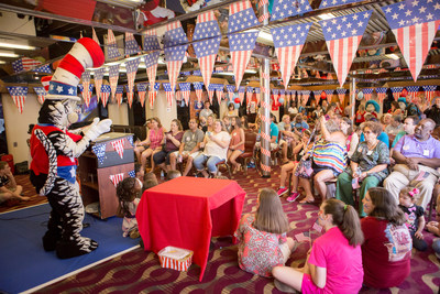 Carnival Cruise Line holds shipboard rally for kids for The Cat in The Hat's just-announced presidential campaign