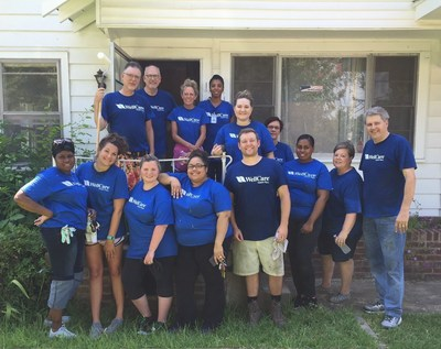 Volunteers from WellCare in Arkansas helped the Veterans Villages of America renovate a duplex that will soon become homes for veterans and their families.