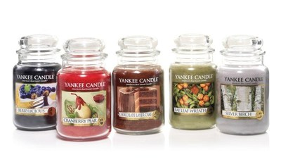Yankee Candle's five new fragrances for Fall 2014 embrace nature's bounty as family and friends gather. (PRNewsFoto/The Yankee Candle Company, Inc.)