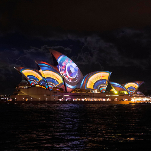 Sydney Opera House lights up in a visual feast of colour for Vivid Sydney 2013.  (PRNewsFoto/Destination NSW)