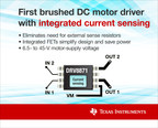 First brushed DC motor driver with integrated current sensing