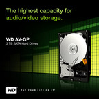 WD® Launches Industry's Largest Capacity 3 TB SATA Hard Drives for AV Platforms